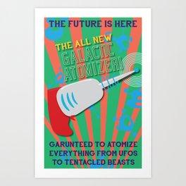The Galactic Atomizer Art Print