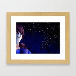 Night Sky with Cry Framed Art Print