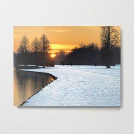 Winter susnet Metal Print