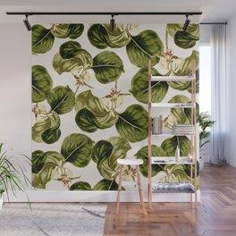 Botany Leaf Pattern Wall Mural