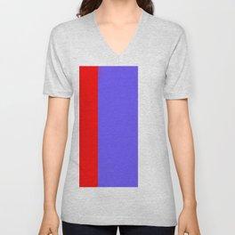 Team Colors 7...red, light blue Unisex V-Neck