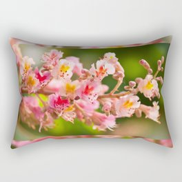 Aesculus red chestnut tree blossoms Rectangular Pillow