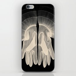 X-Ray of Vintage Gloves (square) iPhone Skin