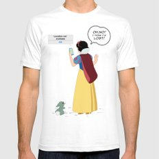 SnowWhite - A smile and a song SMALL Mens Fitted Tee White