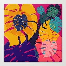 Aloha Floral Pop Art Pattern Canvas Print