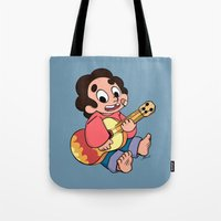 steven universe Tote Bags featuring Steven Universe - Baby Steven  by BlacksSideshow
