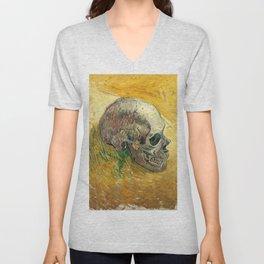 Skull by Vincent van Gogh, 1887 Unisex V-Neck