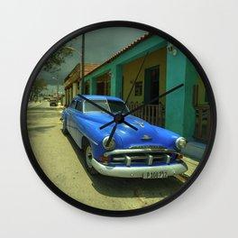 Vintage Plymouth at Cojimar Wall Clock