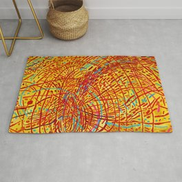 African American Masterpiece 'Magnetic Fields' by Mildred Thompson Rug