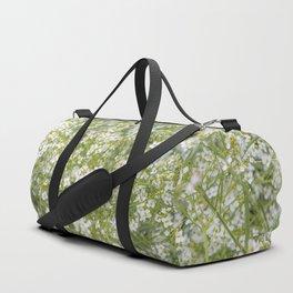 Tiny White Flora Duffle Bag