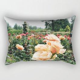 Couple at International Rose Test Garden Rectangular Pillow