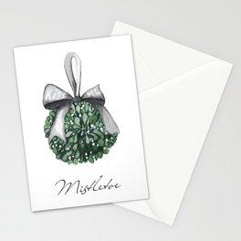 Kiss Me Under the Mistletoe Stationery Cards