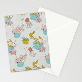 Koi fish light Stationery Cards