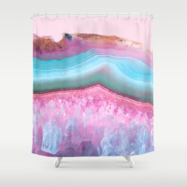 Rose Quartz and Serenity Agate Shower Curtain