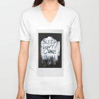 sleep V-neck T-shirts featuring Sleep by Whatever Mom