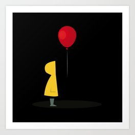 Red Balloon for 1 Penny Art Print