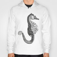 seahorse Hoodies featuring SEAHORSE by VOLPINE