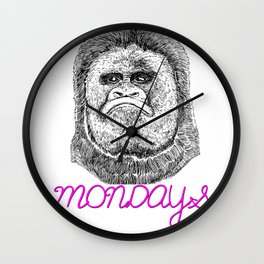 Monday Grumps Wall Clock