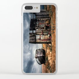 Fisherman Memories Clear iPhone Case