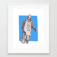 basketball Framed Art Prints featuring basketball by jenapaul