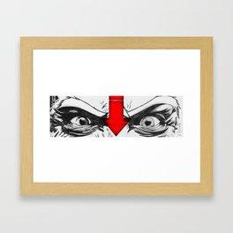 Angry Eyes Framed Art Print