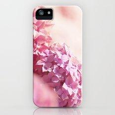 Dreamy pink hydrangea - Flower - Floral Slim Case iPhone SE