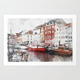 Copenhagen Denmark Art Print
