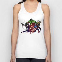 super heroes Tank Tops featuring Heroes by Callie Clara