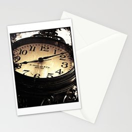 Bar Harbor Street Clock Stationery Cards