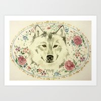 Wolf in the Garden Art Print