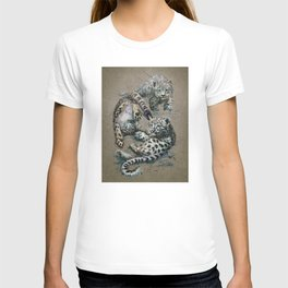 Snow leopard 2 background T-shirt