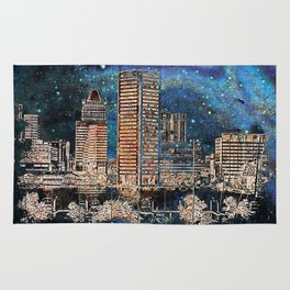 Starry night in Baltimore Rug