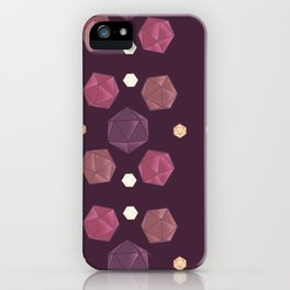 Red and Purple DnD Dice iPhone Case