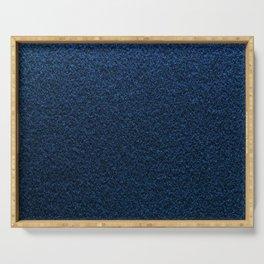 Dark Blue Fleecy Material Texture Serving Tray