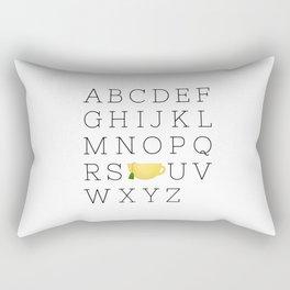 Alphabet Tea Rectangular Pillow