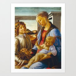 Botticelli  -  Virgin And Child With An Angel Art Print