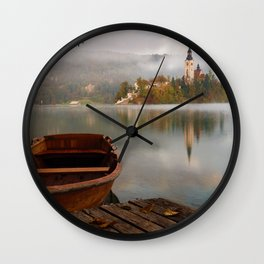 Boat to the Castle (Color) Wall Clock