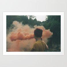 smoke on film Art Print