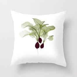 Radish X-ray Throw Pillow