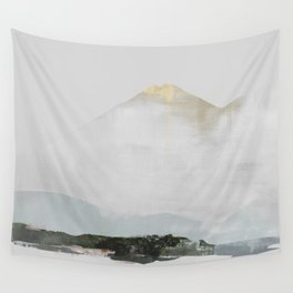Grey Mountain Landscape Wall Tapestry