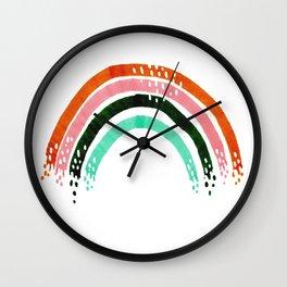 Parque del Oeste rainbow Wall Clock