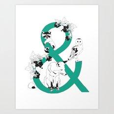 & then.... Art Print