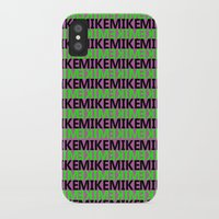 mike wrobel iPhone & iPod Cases featuring Mike by Kyle McDonald