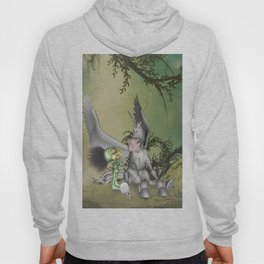 Cute little bird with funny pegasus Hoody