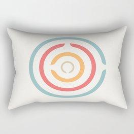 Retro Bullseye Rectangular Pillow