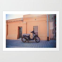 Pastel house, Barcelona Art Print