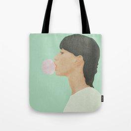 Blowing Bubble Gum Tote Bag