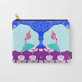 Blue Wallpaper Girl Carry-All Pouch