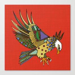 jewel eagle fire Canvas Print