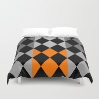 orange pattern Duvet Covers featuring Pattern orange by LoRo  Art & Pictures